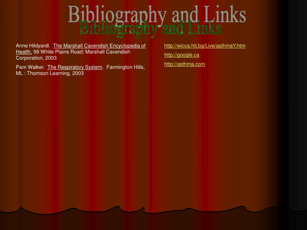 Bibliography and Links