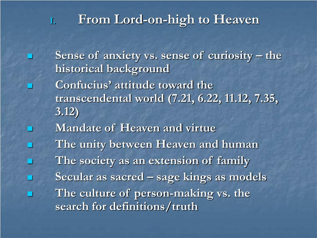 From Lord-on-high to Heaven