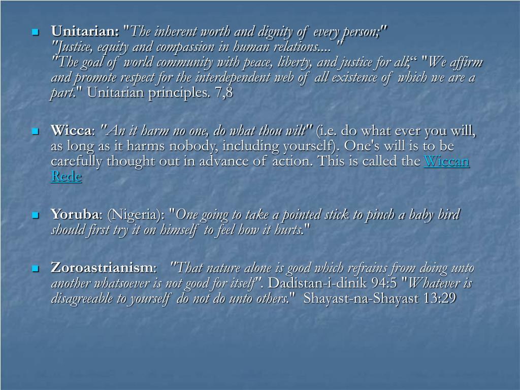Unitarian: