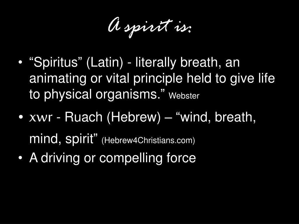 A spirit is: