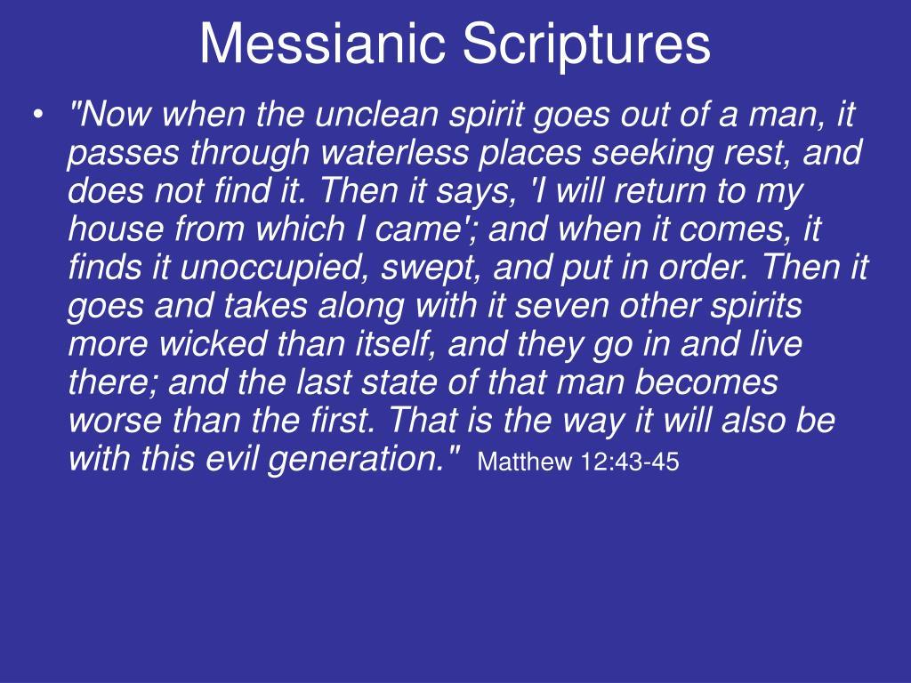 Messianic Scriptures