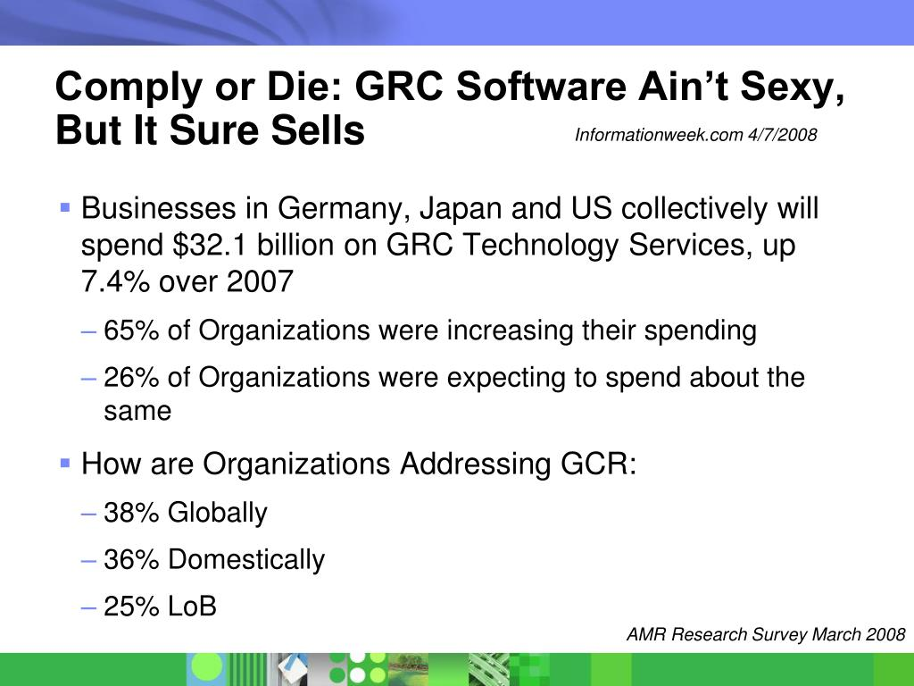 Comply or Die: GRC Software Ain't Sexy, But It Sure Sells
