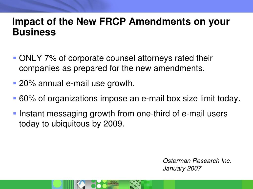 Impact of the New FRCP Amendments on your Business