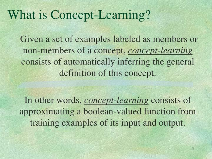What is concept learning