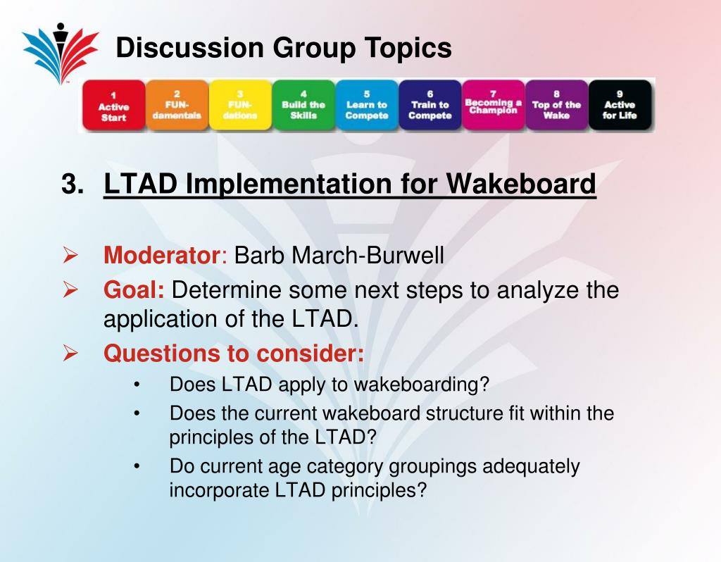 Discussion Group Topics
