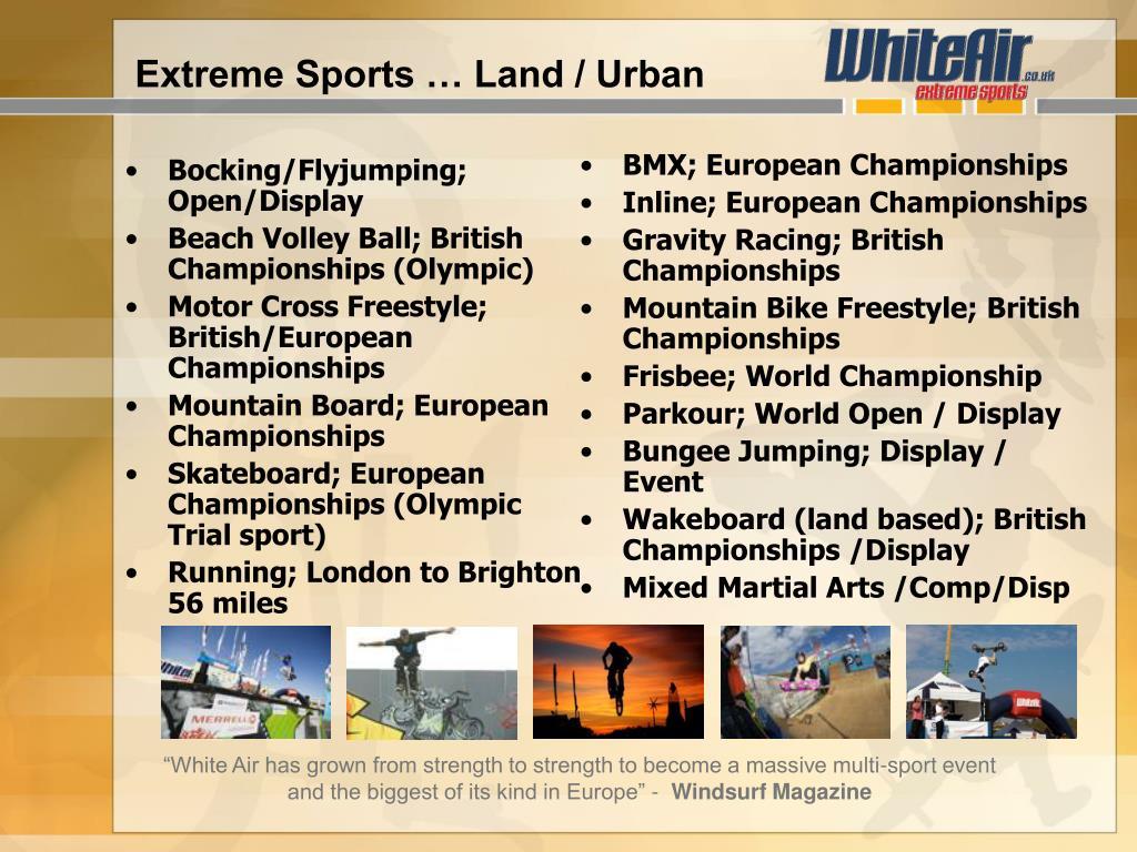 Extreme Sports … Land / Urban