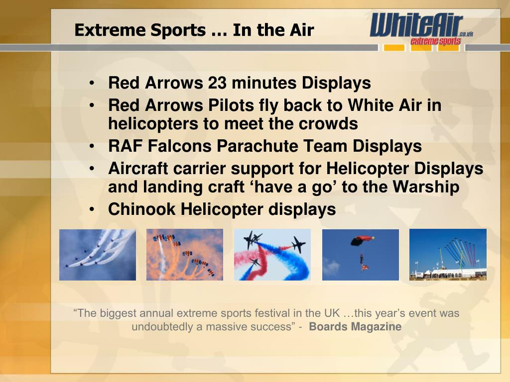Extreme Sports … In the Air