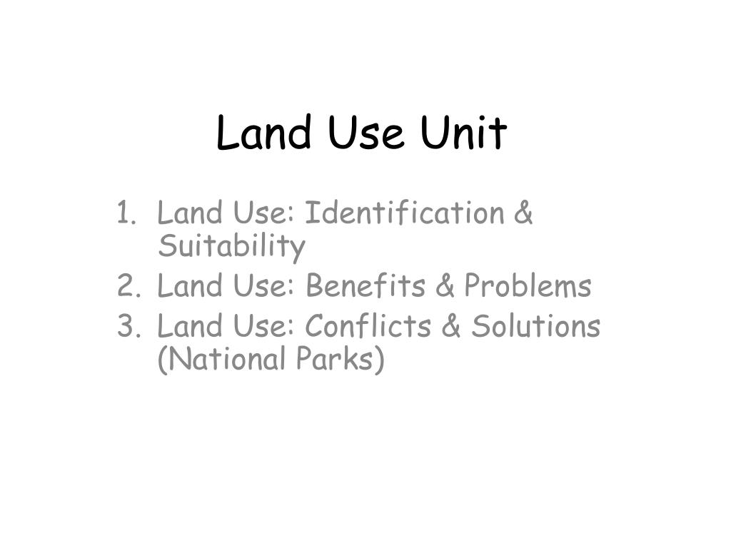 Land Use Unit