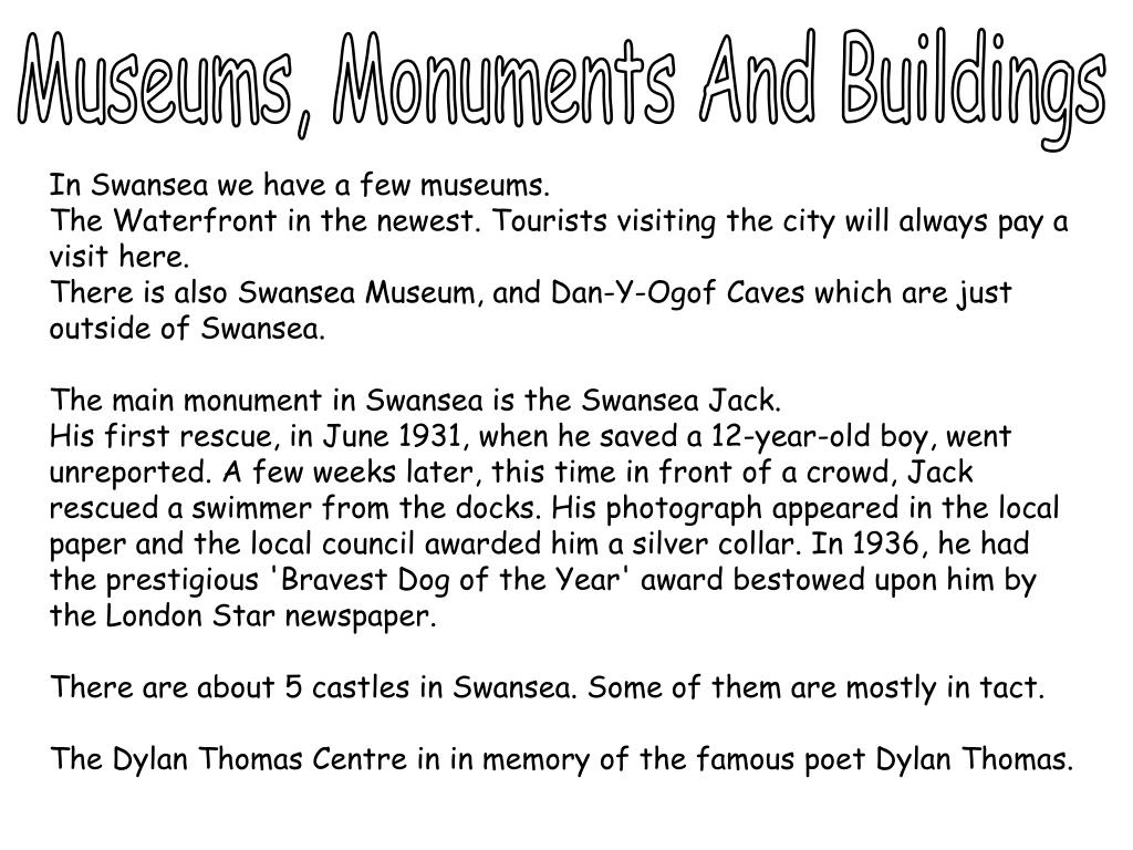 Museums, Monuments And Buildings