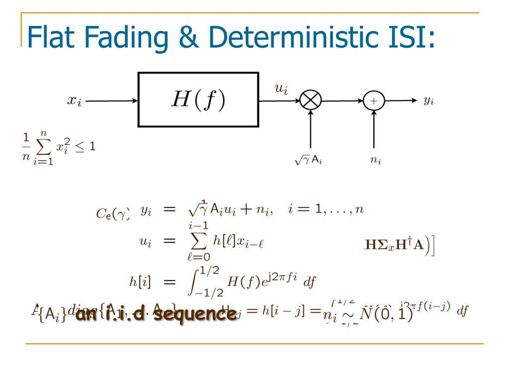 an i.i.d sequence