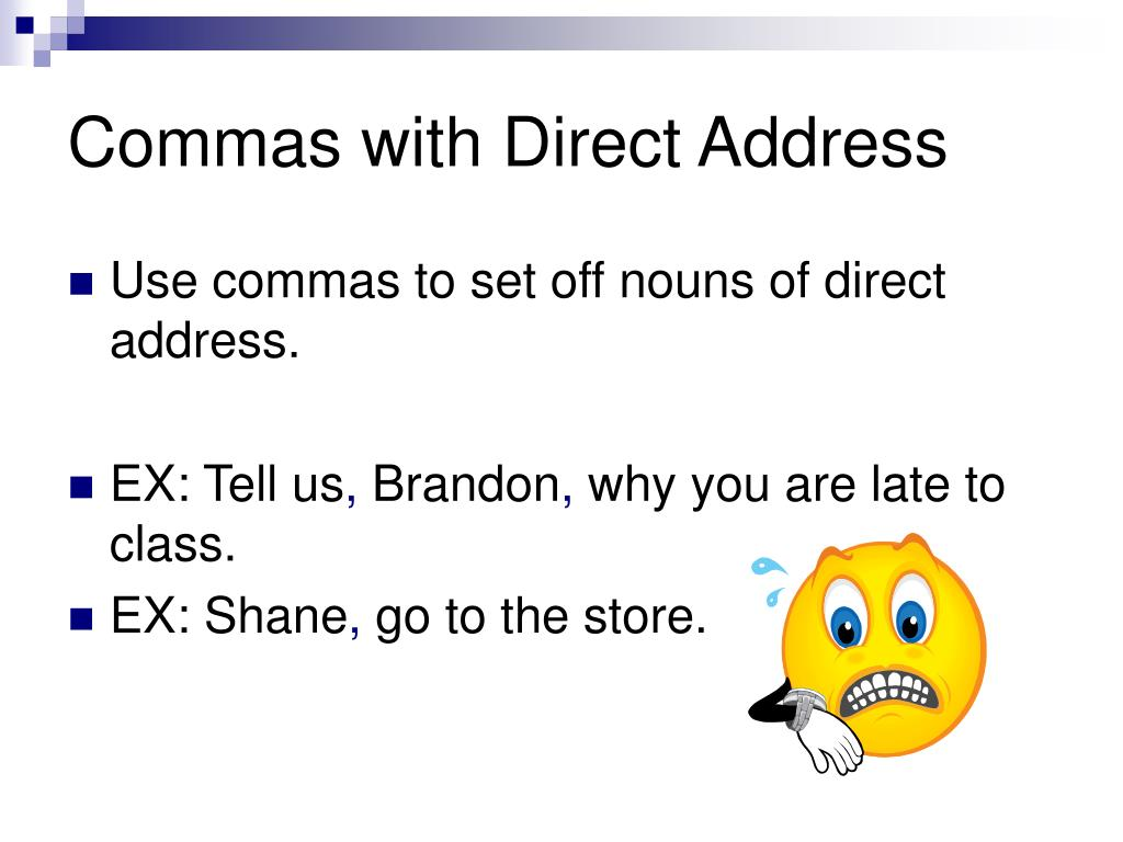Commas with Direct Address