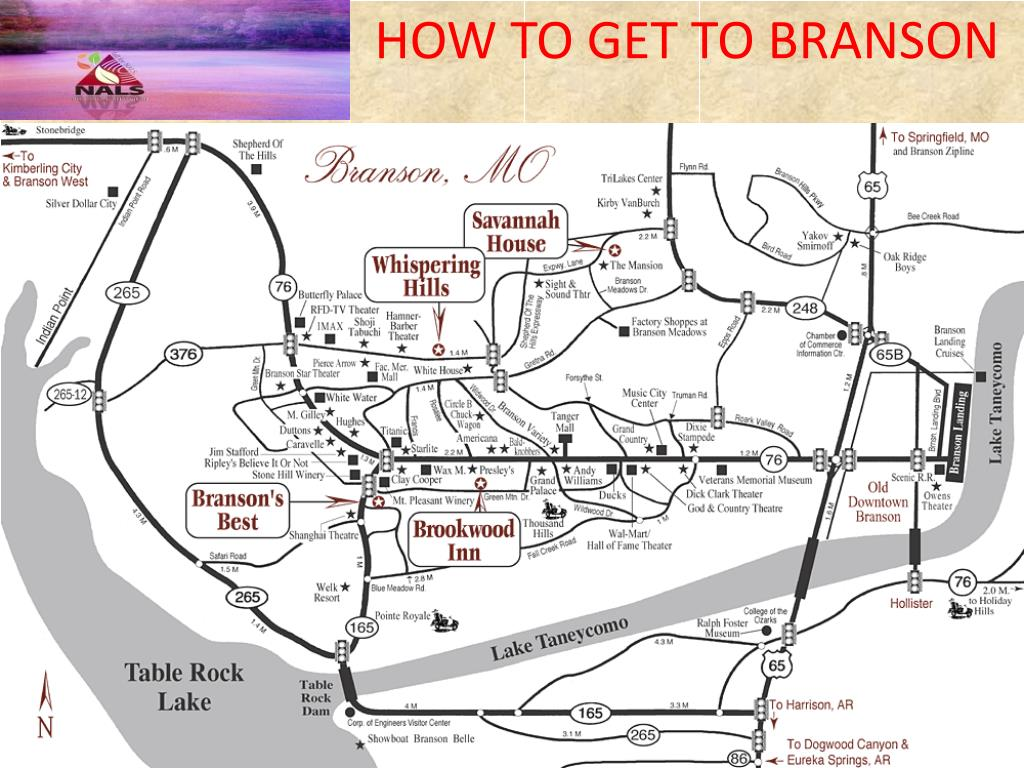 HOW TO GET TO BRANSON