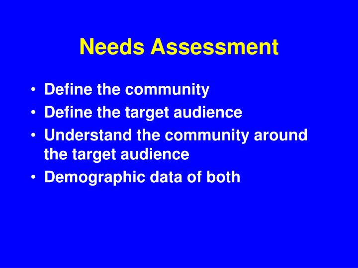 Needs assessment2