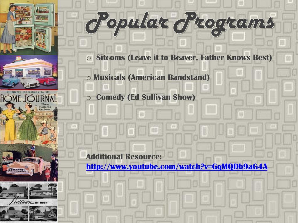 Popular Programs