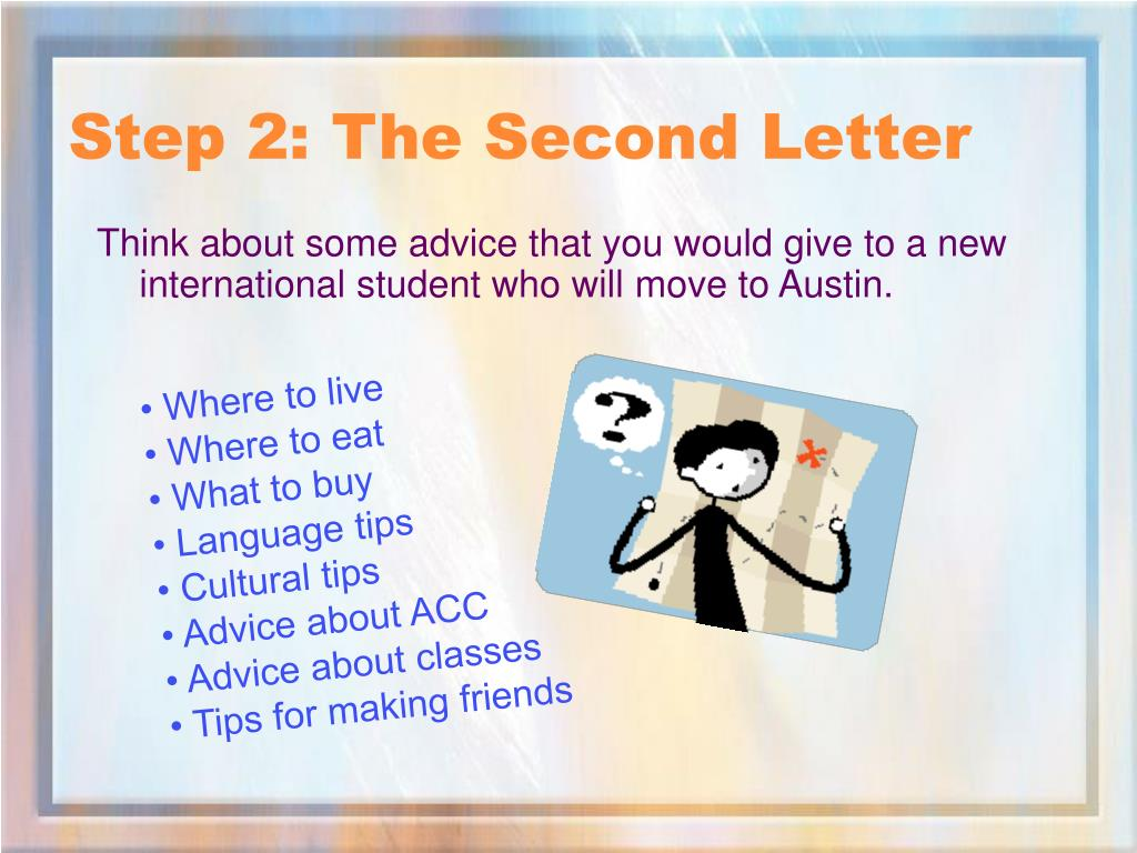 Step 2: The Second Letter