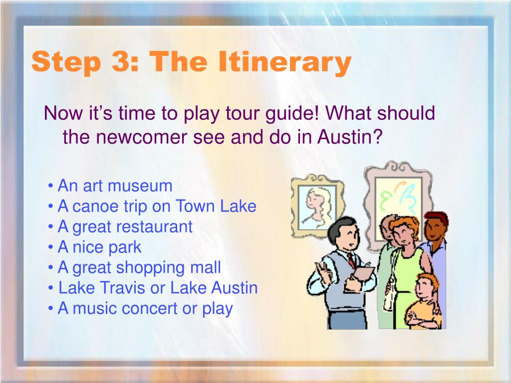 Step 3: The Itinerary