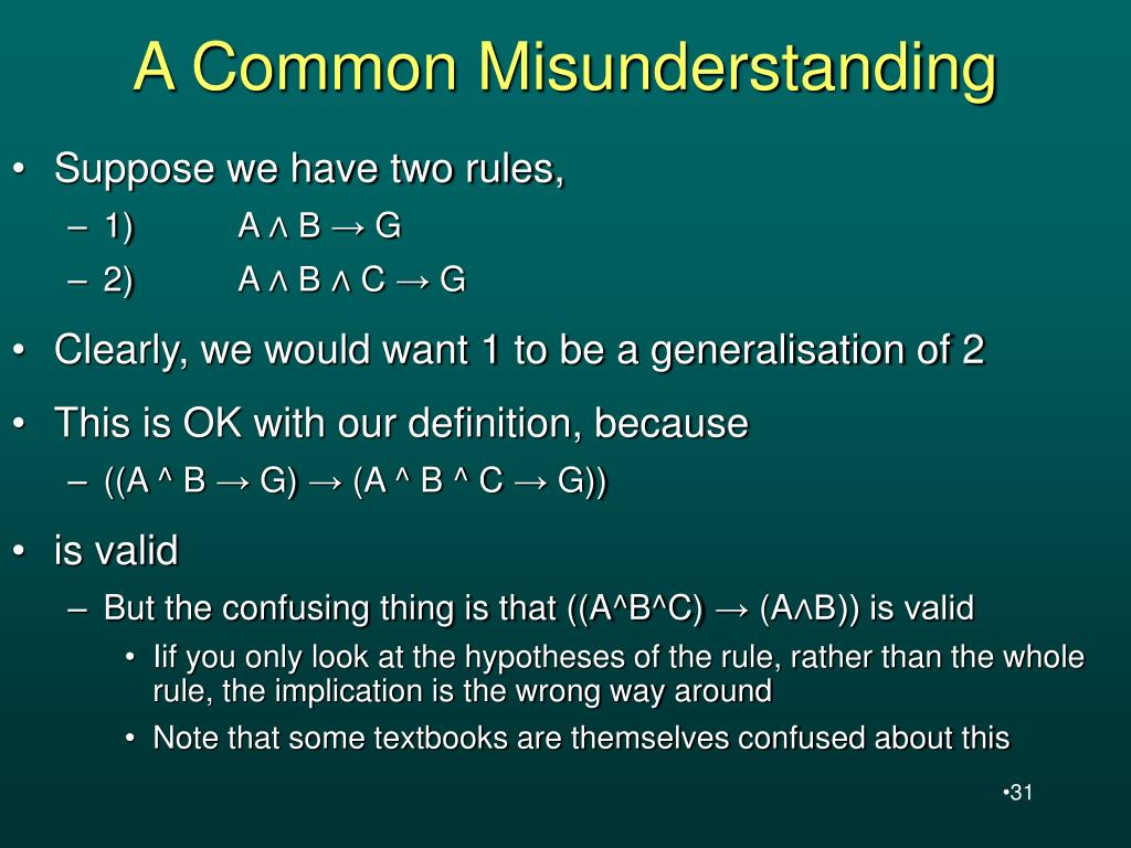 A Common Misunderstanding
