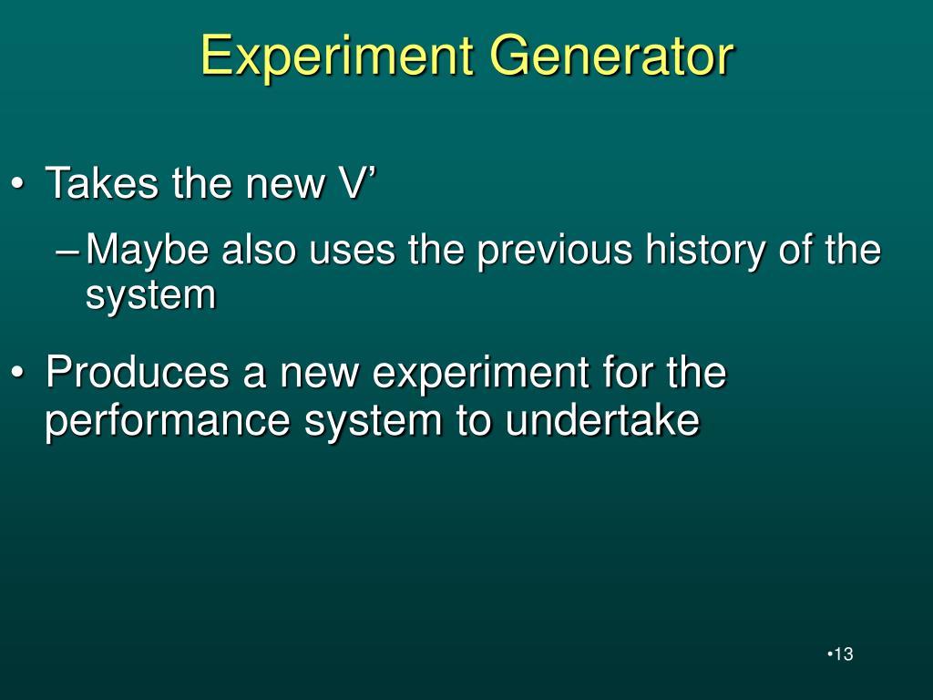 Experiment Generator