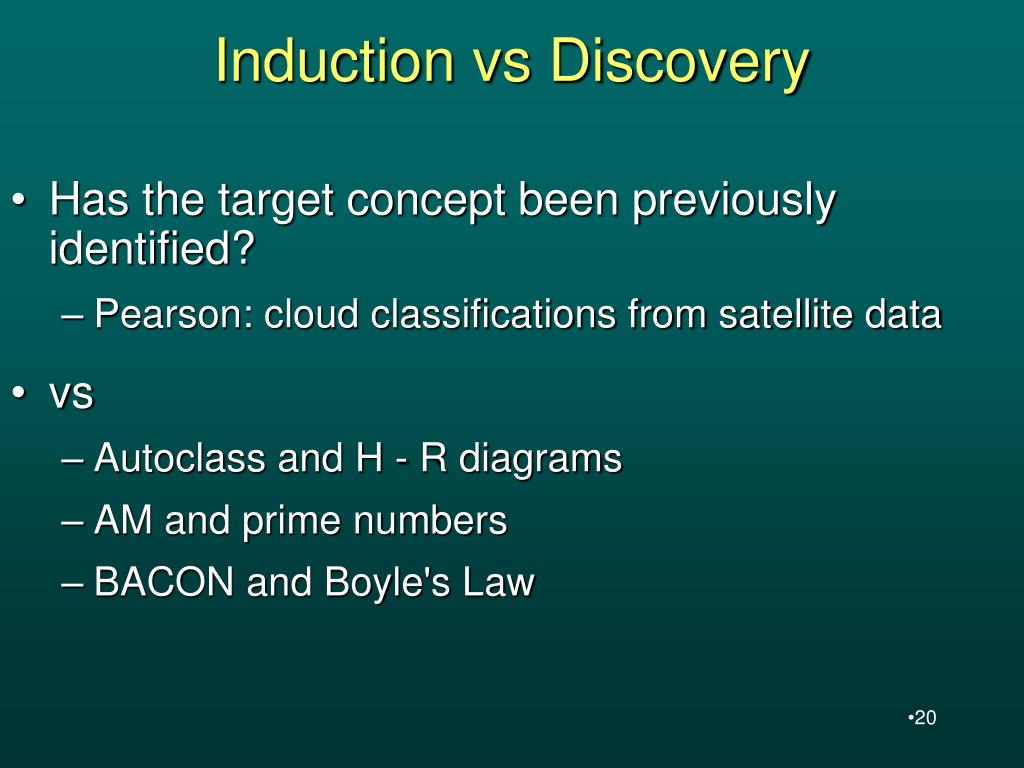 Induction vs Discovery