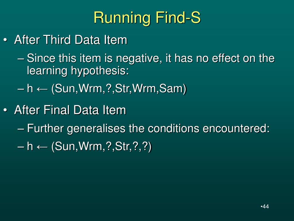 Running Find-S