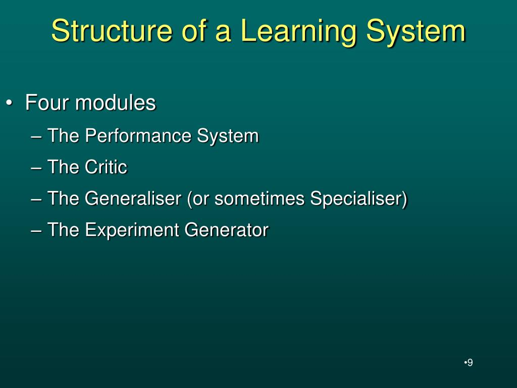 Structure of a Learning System