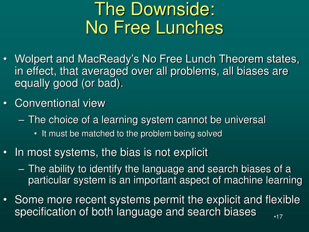 The Downside: