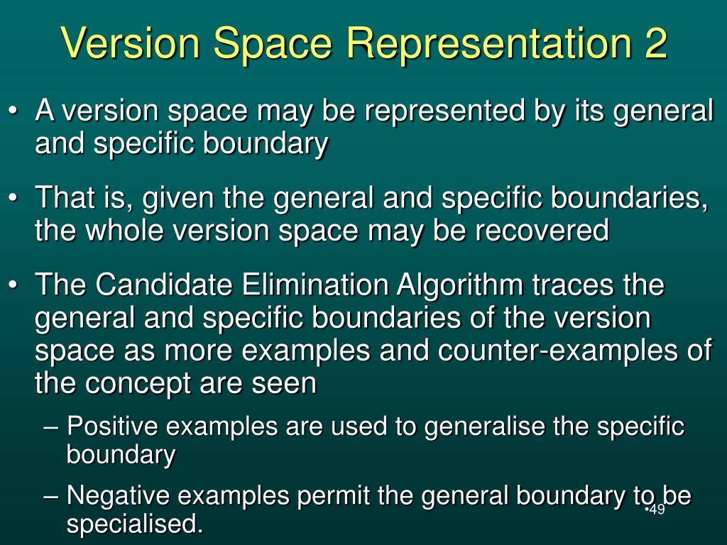 Version Space Representation 2