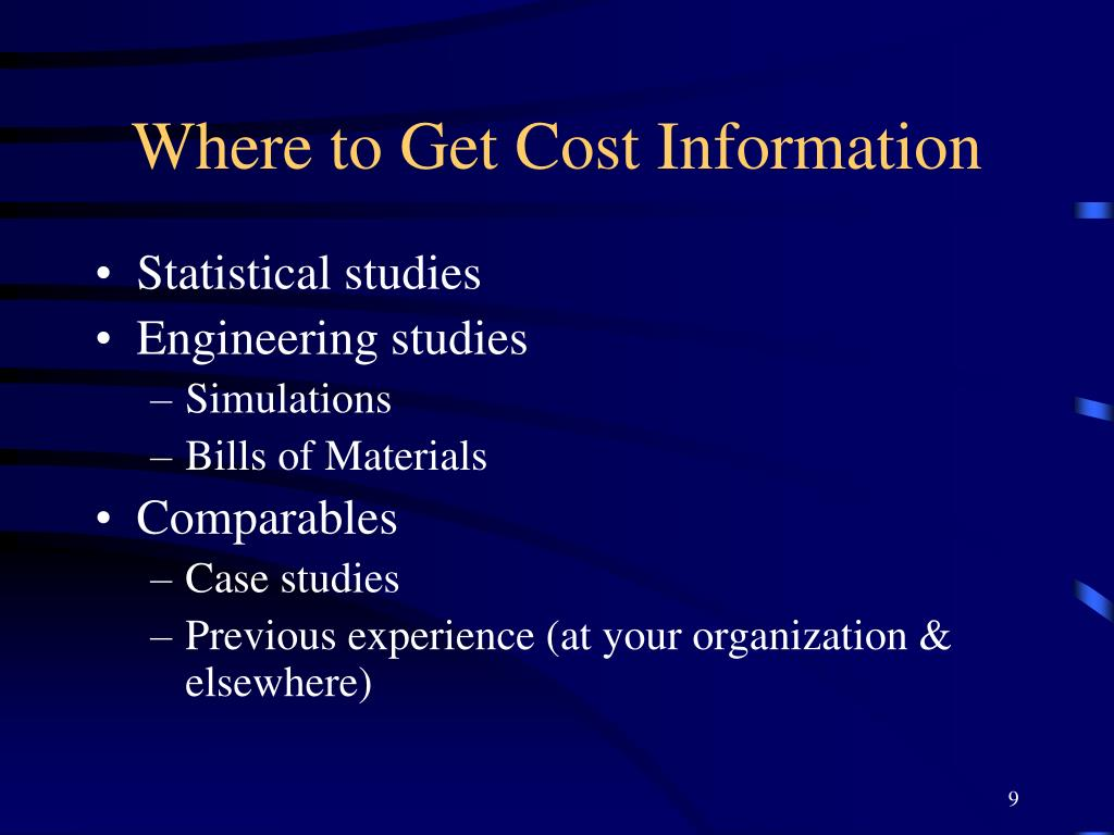 Where to Get Cost Information