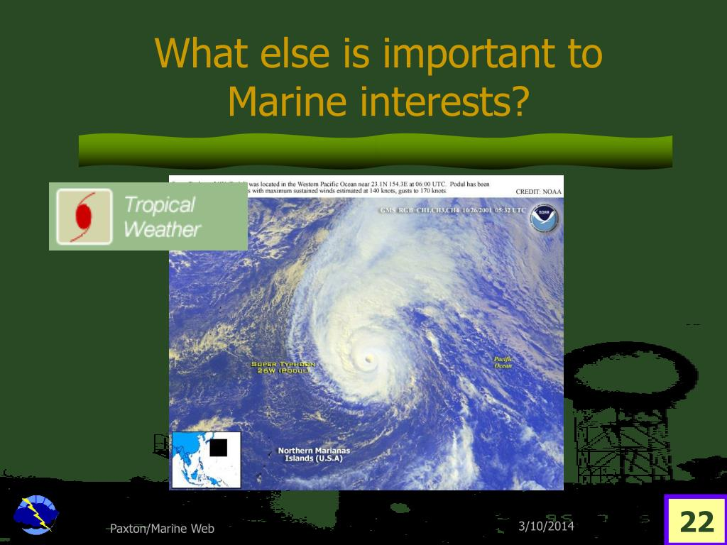 What else is important to Marine interests?