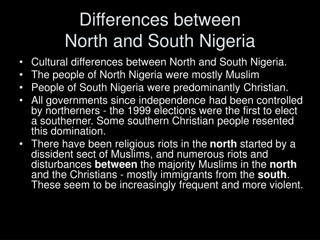 north and south differences Conflict between the north and the south in the civil war  they had many  differences, and these differences found perhaps a focal point in slavery, but  there.