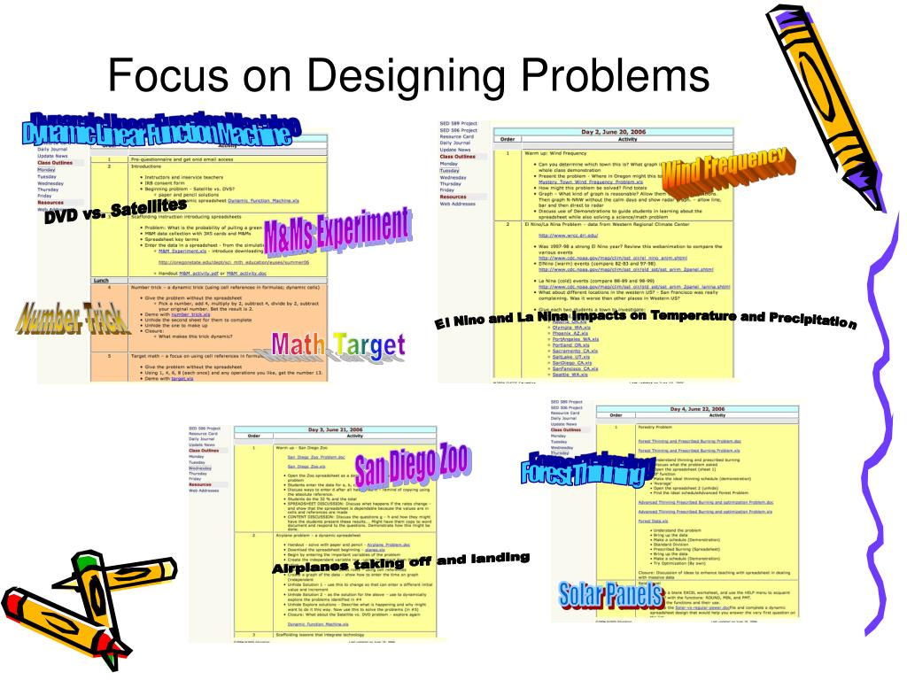 Focus on Designing Problems