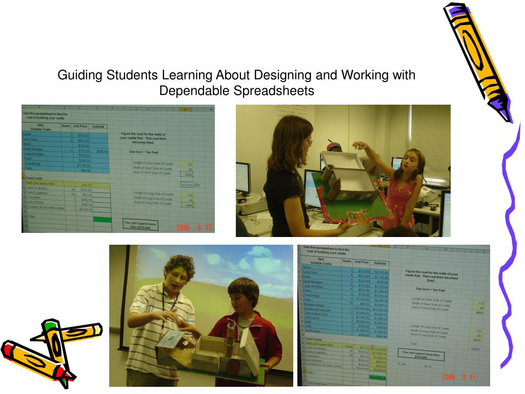 Guiding Students Learning About Designing and Working with Dependable Spreadsheets