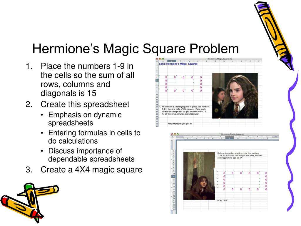 Hermione's Magic Square Problem