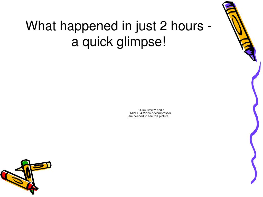 What happened in just 2 hours -