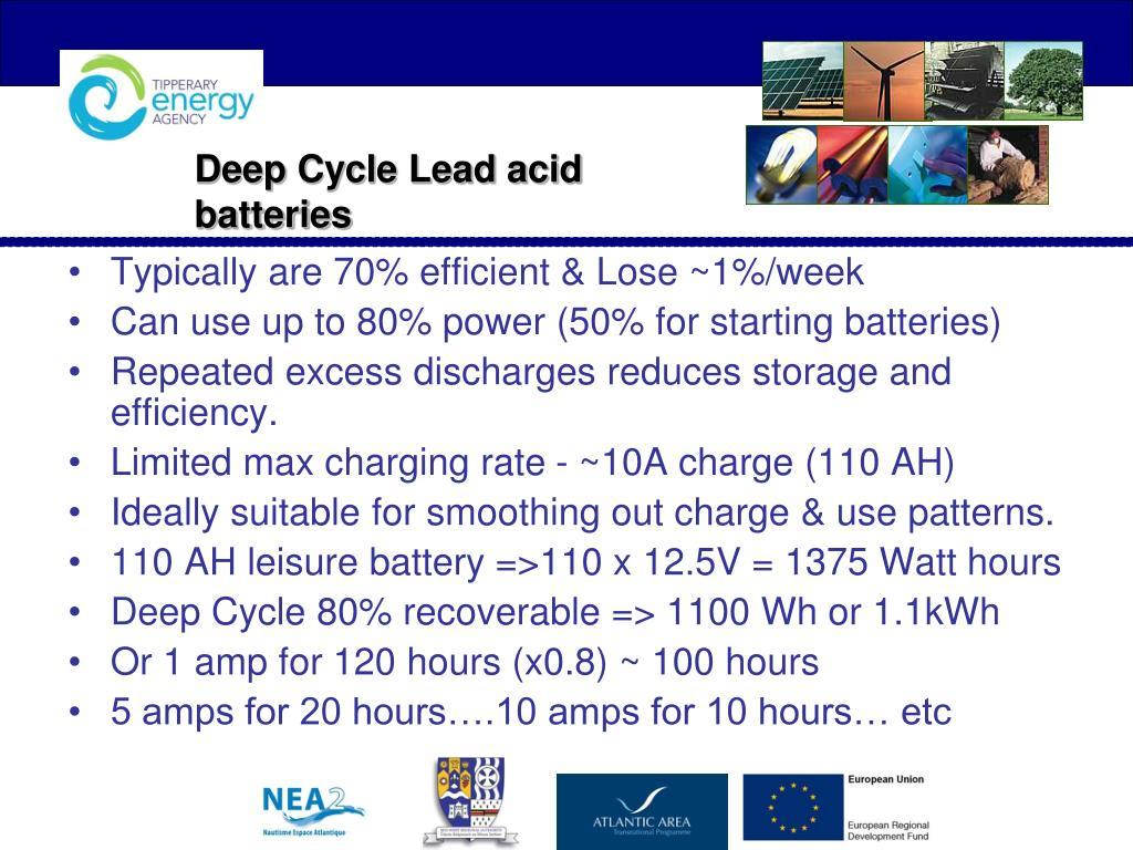 Deep Cycle Lead acid batteries