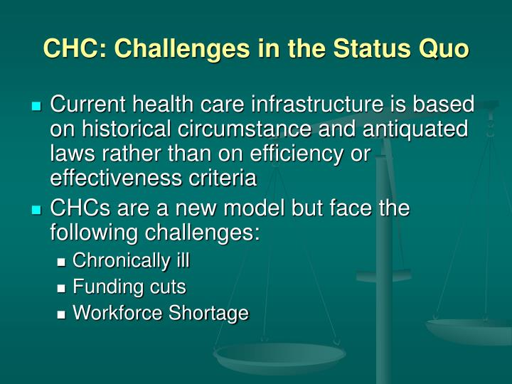 CHC: Challenges in the Status Quo