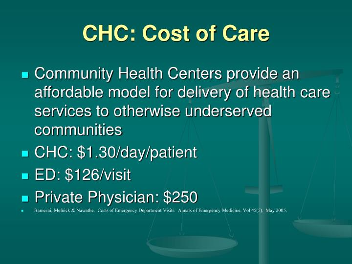 CHC: Cost of Care