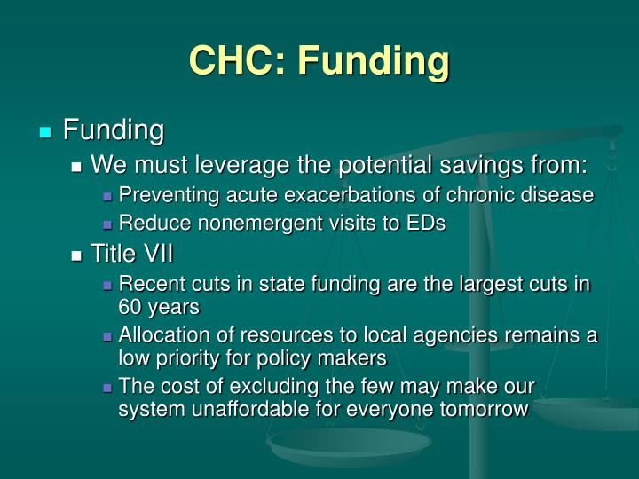 CHC: Funding