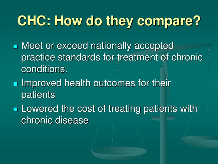 CHC: How do they compare?
