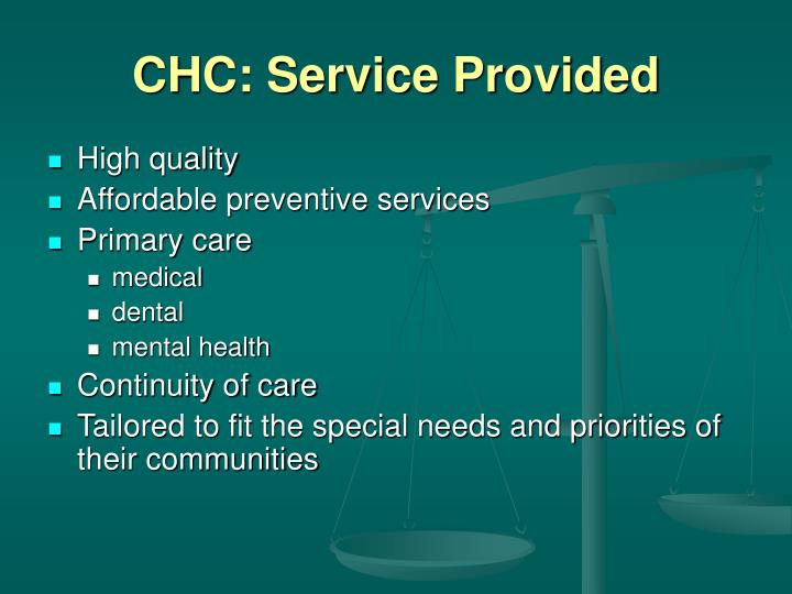 Chc service provided