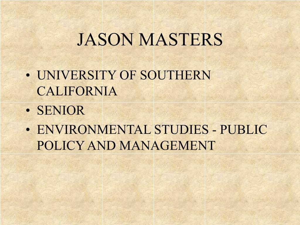 JASON MASTERS