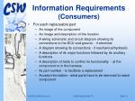 information requirements consumers