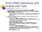 docs nsw procedures prior to keep them safe