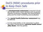 docs nsw procedures prior to keep them safe16