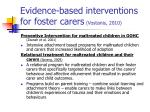 evidence based interventions for foster carers vostanis 2010