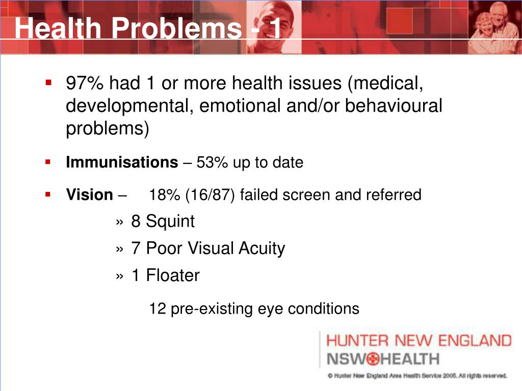 Health Problems - 1