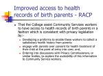 improved access to health records of birth parents racp