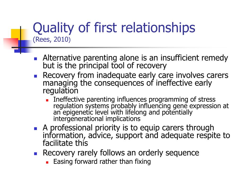 Quality of first relationships