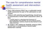 the case for comprehensive mental health assessment and intervention ranzcp