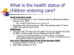 what is the health status of children entering care6